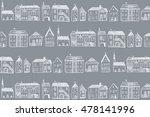 baltic houses pattern line... | Shutterstock .eps vector #478141996