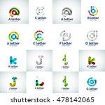 vector set of letter logo icons ... | Shutterstock .eps vector #478142065
