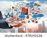 man sketching business ideas  | Shutterstock . vector #478143136