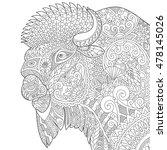 stylized buffalo  american... | Shutterstock .eps vector #478145026