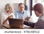 positive senior couple talking... | Shutterstock . vector #478148512
