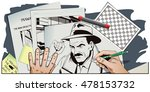 stock illustration. people in... | Shutterstock .eps vector #478153732