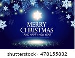 shining christmas background.... | Shutterstock .eps vector #478155832