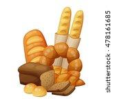 bakery  bread  buns  croissant  ... | Shutterstock .eps vector #478161685