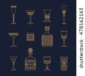 bar crystal glasses vector... | Shutterstock .eps vector #478162165