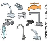 vector set of faucet | Shutterstock .eps vector #478163476