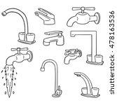 vector set of faucet | Shutterstock .eps vector #478163536