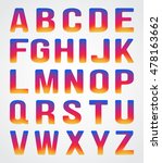 colorful font set inspred by...