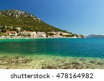 beautiful beach in croatia ... | Shutterstock . vector #478164982