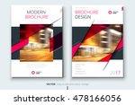 pink brochure layout design.... | Shutterstock .eps vector #478166056