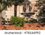ornate stone fountain ... | Shutterstock . vector #478166992
