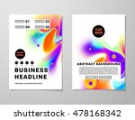 cover template with abstract... | Shutterstock .eps vector #478168342