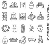funeral icons set. funeral... | Shutterstock .eps vector #478169812