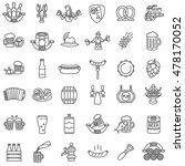 beer icons set. oktoberfest... | Shutterstock .eps vector #478170052