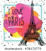 i love paris. card   poster  ... | Shutterstock .eps vector #478173775