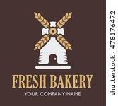 bakery shop logo. mill isolated ... | Shutterstock .eps vector #478176472