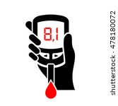 high level of blood sugar... | Shutterstock .eps vector #478180072