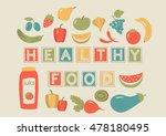 farmer's market. set of... | Shutterstock .eps vector #478180495
