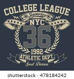 new york city sport typography  ...   Shutterstock .eps vector #478184242