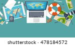 travel and tourism. flat style. ...   Shutterstock . vector #478184572