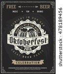 vector oktoberfest beer... | Shutterstock .eps vector #478189456