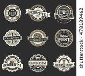 retro styled vector logo set of ... | Shutterstock .eps vector #478189462