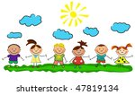 happy kids. | Shutterstock .eps vector #47819134