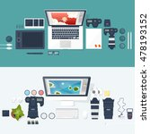 photographer equipment on a... | Shutterstock . vector #478193152