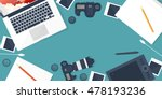 photographer equipment on a... | Shutterstock . vector #478193236
