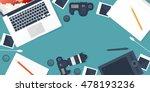 photographer equipment on a...   Shutterstock . vector #478193236