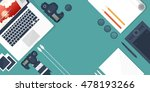 photographer equipment on a... | Shutterstock . vector #478193266