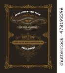 set of vintage labels. elements ... | Shutterstock .eps vector #478193296