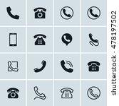 phone icons  set of 16...