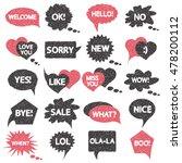 vector hand drawn speech and... | Shutterstock .eps vector #478200112