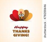 happy thanksgiving card design... | Shutterstock .eps vector #478200646