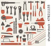 drawn icons of repairing... | Shutterstock .eps vector #478211155