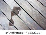 Footprint On Balcony