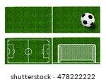 soccer ball on the green field   Shutterstock . vector #478222222