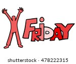 friday sign | Shutterstock .eps vector #478222315