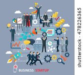 business startup concept with... | Shutterstock . vector #478226365