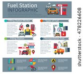 gas station infographic set... | Shutterstock . vector #478226608