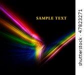 bright modern fractal template | Shutterstock . vector #47823271