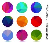 multicolored polygonal circles... | Shutterstock .eps vector #478240912