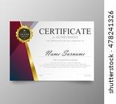 certificate template awards... | Shutterstock .eps vector #478241326