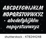 vector set with hand written... | Shutterstock .eps vector #478244248
