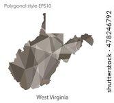 west virginia state map in... | Shutterstock .eps vector #478246792