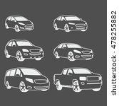 car icons set. linear style.... | Shutterstock .eps vector #478255882