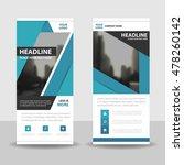 blue roll up business brochure...   Shutterstock .eps vector #478260142