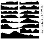 Mountain Set Vector