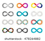 set of infinity icons. vector... | Shutterstock .eps vector #478264882